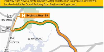 Construction on the Grand Parkway from New Caney to Baytown is set to begin soon