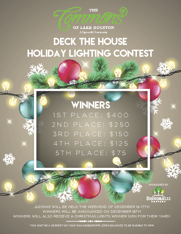 The Commons of Lake Houston Christmas Lights Contest