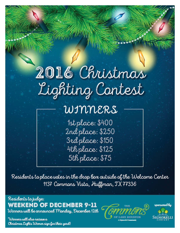 The Commons Christmas Lights Contest 2016