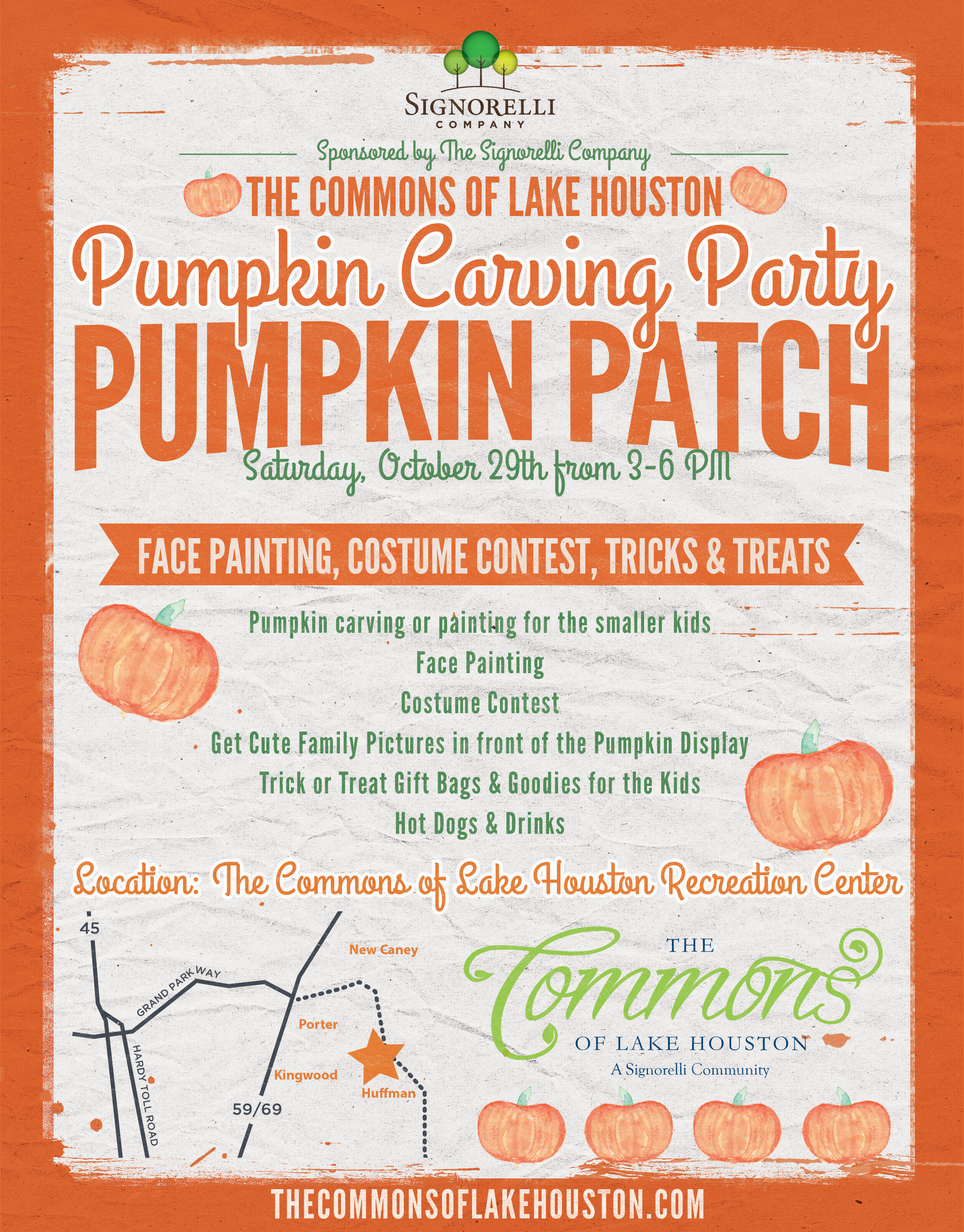 Pumpkin Patch Party in The Commons of Lake Houston