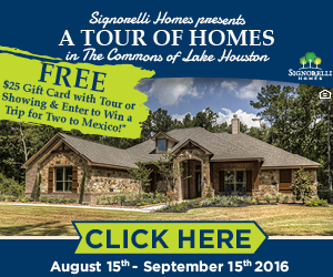 Signorelli Homes Tour of Homes in The Commons of Lake Houston